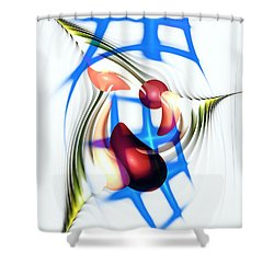 Shower Curtain featuring the digital art Parkour by Anastasiya Malakhova