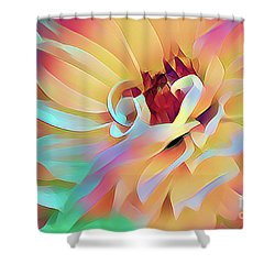 Party Time Dahlia Abstract Shower Curtain