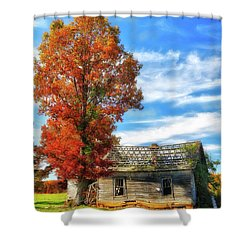 Past Its Prime Vintage Autumn Barn Ap Shower Curtain