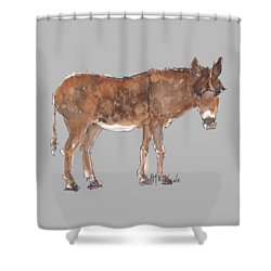 Pasture Boss 2015 Watercolor Painting By Kmcelwaine Shower Curtain