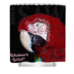 Patchwork Parrot Shower Curtain