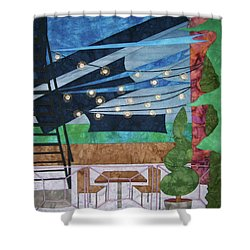 Patio At The Winds Shower Curtain