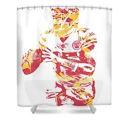 Patrick Mahomes Kansas City Chiefs Pixel Art 12 Shower Curtain