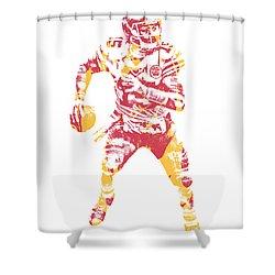 Patrick Mahomes Kansas City Chiefs Pixel Art 13 Shower Curtain