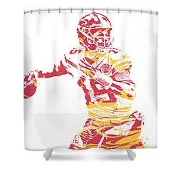 Patrick Mahomes Kansas City Chiefs Pixel Art 14 Shower Curtain