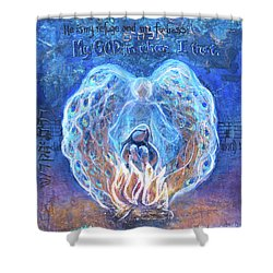 Peacock Angel    Cooler Version Shower Curtain