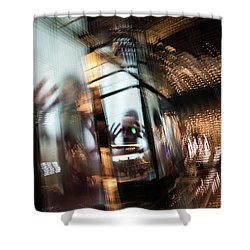 Shower Curtain featuring the photograph Peering Through by Alex Lapidus
