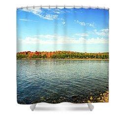 Peninsula Shore In Fall Shower Curtain