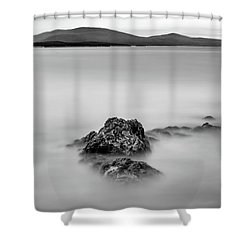 Shower Curtain featuring the photograph Penobscot Bay Tranquility by Rick Berk