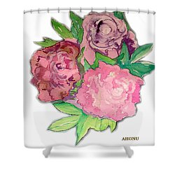Peonie Roses Shower Curtain