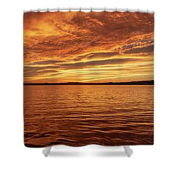 Percy Priest Lake Sunset Shower Curtain