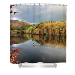 Shower Curtain featuring the photograph Perthshire Autumn by Grant Glendinning