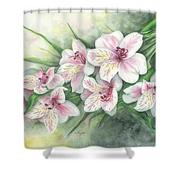 Peruvian Lilies Shower Curtain