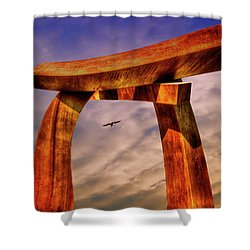 Shower Curtain featuring the photograph Pi In The Sky by Paul Wear