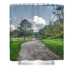 Pickerington Ponds Walkway Shower Curtain