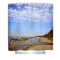 Pier Cove With Big Sky Shower Curtain