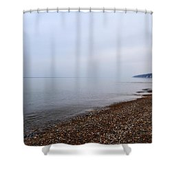 Pier Cove With Stoney Beach 1.0 Shower Curtain