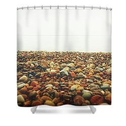 Pier Cove With Stoney Beach 2.0 Shower Curtain