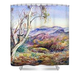 Pilbara, Hamersley Range, Western Australia. Shower Curtain