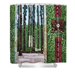 Pine Forest Tall Shower Curtain