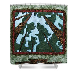 Pine Forest Up Shower Curtain