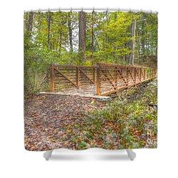 Pine Quarry Park Bridge Shower Curtain