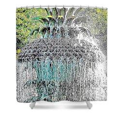 Pineapple Fountain Shower Curtain