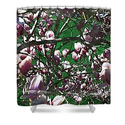 Pink Bush Shower Curtain