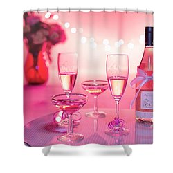 Pink Champagne Shower Curtain