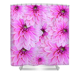 Pink Dahlia Flower Design Shower Curtain