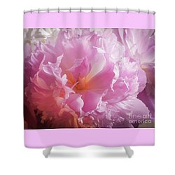 Pink Flowers No. 77 Shower Curtain
