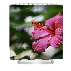 Shower Curtain featuring the photograph Pink Hibiscus Flower by Pablo Avanzini