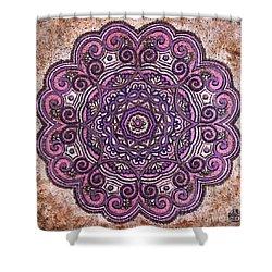 Pink Mandala Shower Curtain