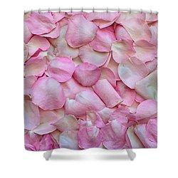 Pink Rose Petals Shower Curtain