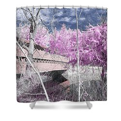 Pink Sachs Shower Curtain