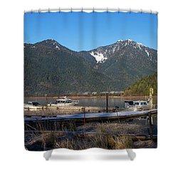 Pitt Lake Winterimpression Shower Curtain