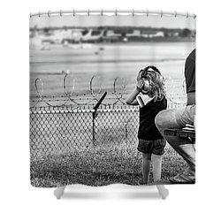Plane Watching Shower Curtain