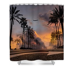 Shower Curtain featuring the photograph Playa Vista by John Rodrigues
