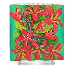 Plumeria Sunburst Shower Curtain