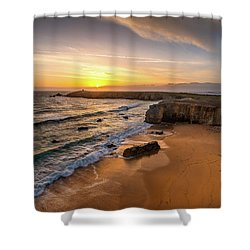 Pointe Du Percho And Port Blanc Shower Curtain