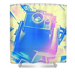 Polarised Pop Art Shower Curtain