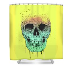Pop Art Skull Shower Curtain