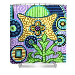 Pop Botanical 2 Shower Curtain