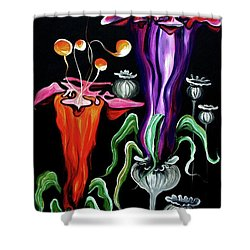 Poppies Fantasy.. Shower Curtain