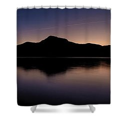 Porteau Cove Panoramic Blue Hour 2 Shower Curtain