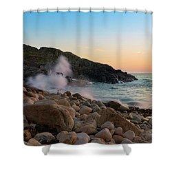 Porth Nanven Splashback Shower Curtain