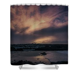 Porthmeor Sunset 4 Shower Curtain