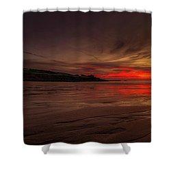 Porthmeor Sunset Shower Curtain