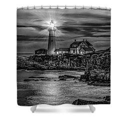 Portland Lighthouse 7363 Shower Curtain