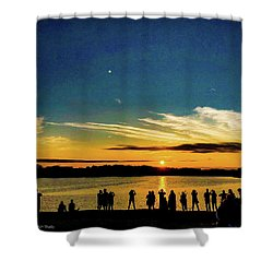 Portland Pauls Sunset Shower Curtain